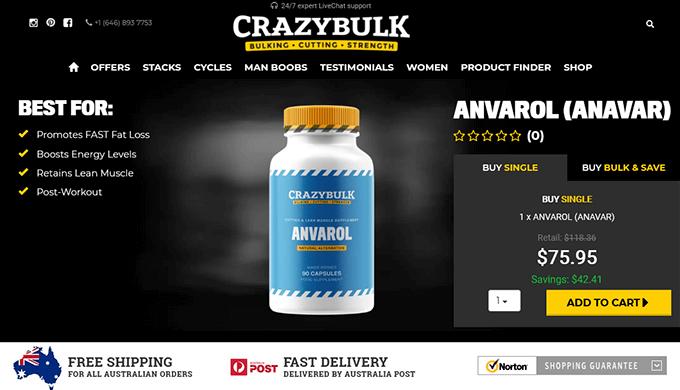 Anvarol Australia official website